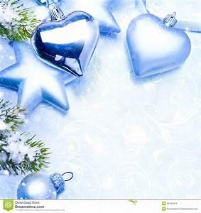 Art Christmas Greeting Card Blue Background Stock Photo ...