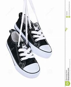 Vintage Hanging Black Shoes Stock Images - Image: 19220564