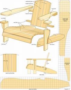Free Adirondack Chair Plans Printable Chairs & Seating