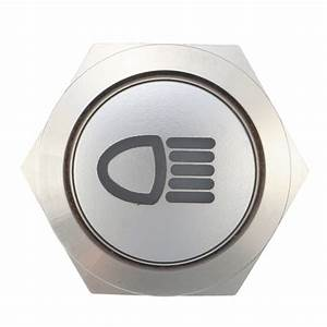 12v 19mm Silver Metal Led Push Button On Off Latching