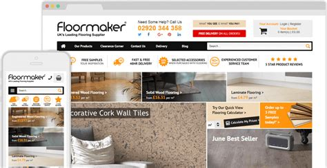 floor and decor website floormaker flooring website design case study