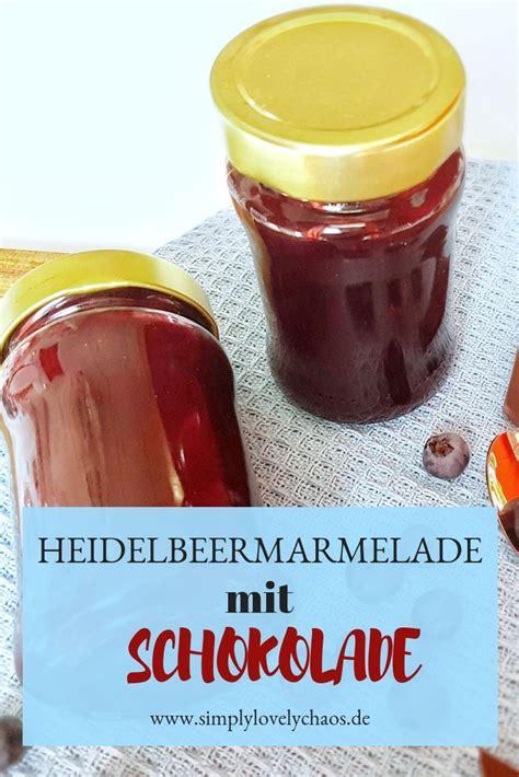 einfaches selbstgemachtes geschenk einfache heidelbeermarmelade mit schokolade rezepte s 252 223 thermomix backen