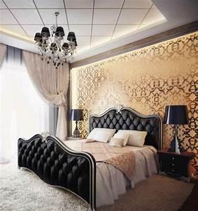 Lustre Pour Chambre : la chambre style baroque nos propositions en photos ~ Teatrodelosmanantiales.com Idées de Décoration