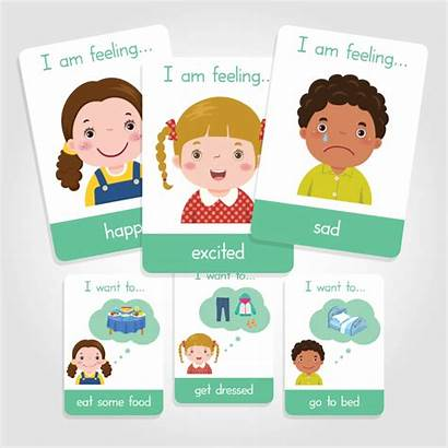 Flashcards Emotions Daily Activities Toddlers Sold Learner