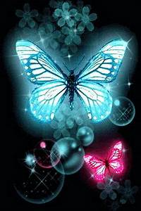 blue & pink butterfly glitter Android Apps & Games on