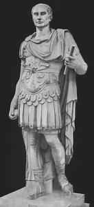 Statue of Julius Caesar in a coat of mail. Marble. Rome ...