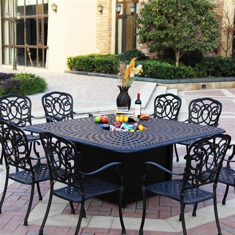 Cheap 6 Person Patio Set by Darlee Florence 9 Cast Aluminum Patio Pit