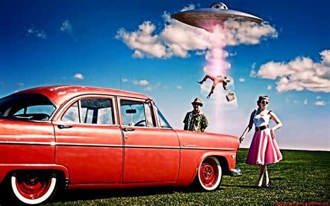 50s Car Wallpaper 1080p 1920x1200 by Retro Classic Advertising Sci Fi Humor Ufo Aliens