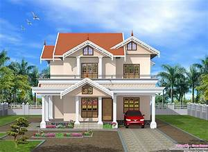 Very, Cute, 2750, Sq, Ft, Kerala, Home, Design