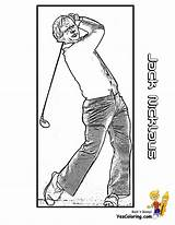 Golf Coloring Jack Nicklaus Printables Player Legend Yescoloring Fisted Boys Pro Zaharias Babe sketch template
