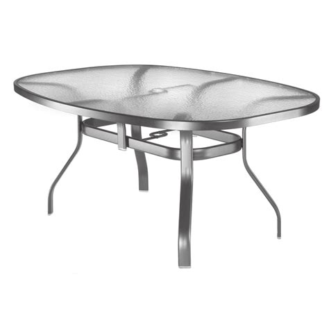 homecrest glass top 43 x 78 in oval patio dining table