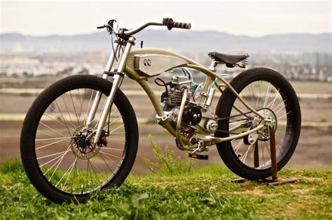 motorised bicycle  wolf creative customs silodrome