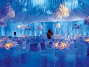 cheap reception halls winter brides using white silver and blue show me your