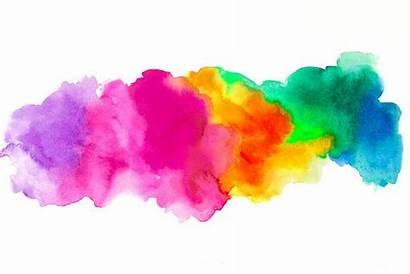 Background Watercolor Tattoo Abstract Rainbow Blank Splash