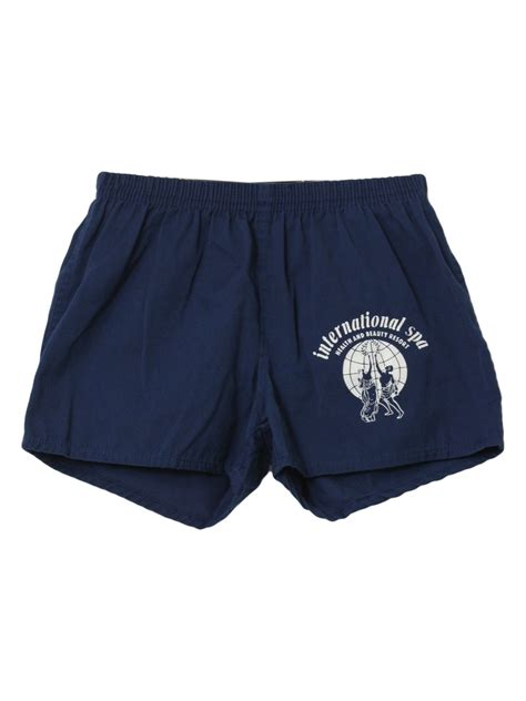 seventies vintage shorts  seffe mens blue background
