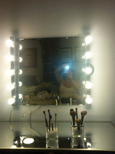 diy hollywood girl inspired mirror  vanity light