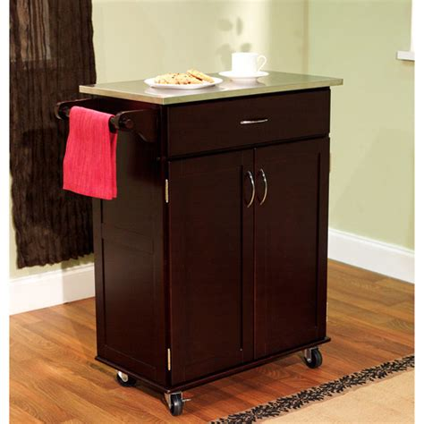 kitchen cart walmart kitchen cart with stainless steel top finishes