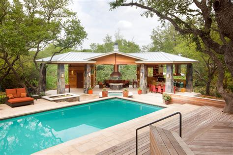 house plans with pools and outdoor kitchens good looking covered outdoor kitchens decorating ideas with entertaining fire pit deck