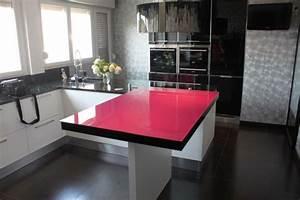 la table de cuisine riaz sera parfaite pour passer un With meuble de cuisine ilot central 9 une cuisine quatre styles quelle sera votre preferee