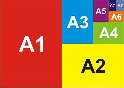 Paper Sizes Printing Card Guide Chart A4