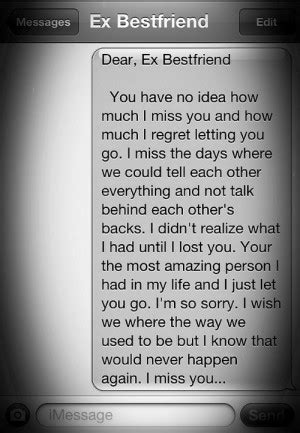 missing your ex bestfriend quotes