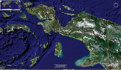 irian jaya papua photo satellite
