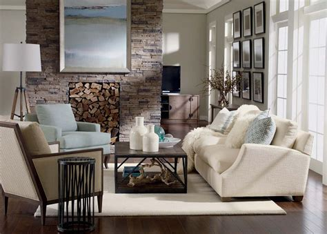 Remarkable Country Chic Living Room White Fur Cushion
