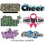 Cheer Clipart Vector Clip Designs Cheerleader Megaphone