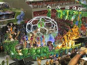 Rio Carnival Sambadrome parade - football float   Carnival ...