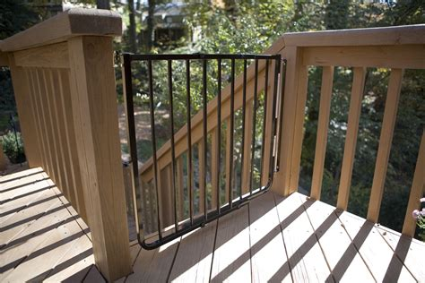 outdoor gate for deck stairs made outdoor baby stair gate by mickey rooney 7227