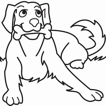 Dog Coloring Pages Puppy Printable Bone Bones