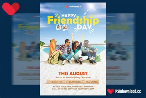happy friendship day flyer template freedownloadpsdcom
