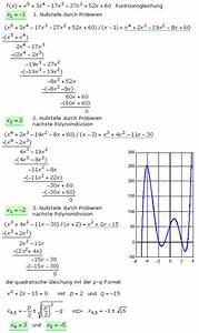 Nullstellen Berechnen Polynomdivision : polynomdivision und horner schema zur bestimmung von ~ Themetempest.com Abrechnung