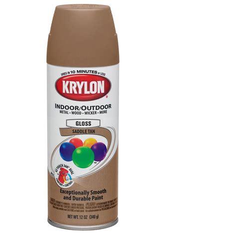 outdoor primer paint krylon colormaster enamel spray paint gloss saddle 12 oz