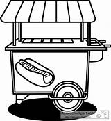 Cart Dog Stand Outline Clipart Clip Background Clipartpanda Sketch Template Vector Clker sketch template