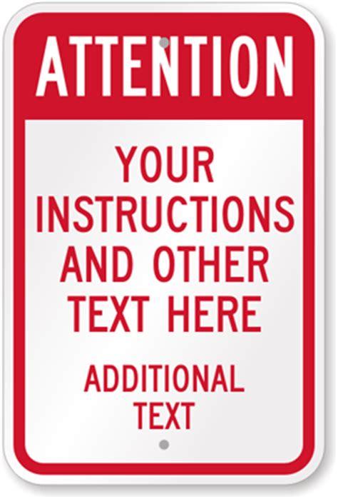 custom  signs custom instructions signs