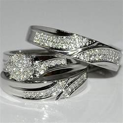 sterling silver wedding ring sets engagement ring unique engagement ring - Sterling Silver Wedding Ring Sets