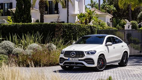 Find information on performance, specs, engine, safety and more. 2021 Mercedes-AMG GLE 53 Coupe 4MATIC+ (Color: Designo Diamond White Bright) - Front Three ...