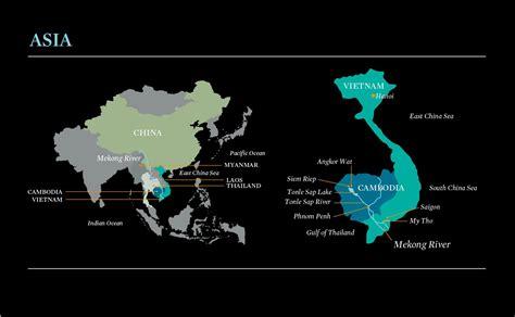 cuisine viet mekong river map map cambodia map mekong river