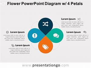 Flower Powerpoint Diagram W   4 Petals