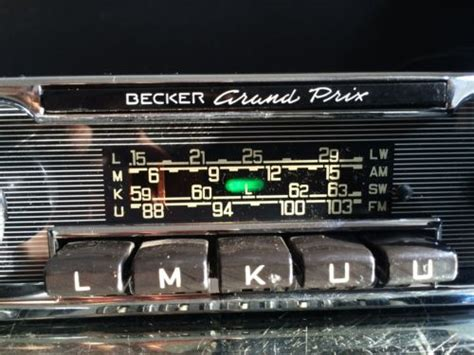 becker grand prix wonderbar vintage chrome classic car fm
