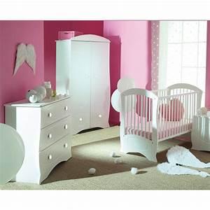 Chambre Complete Bebe : chambre b b compl te blanche perle ~ Teatrodelosmanantiales.com Idées de Décoration