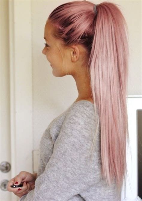 hair styles for asian pink ponytail hairstyle hair hairtips hairextensions 2225