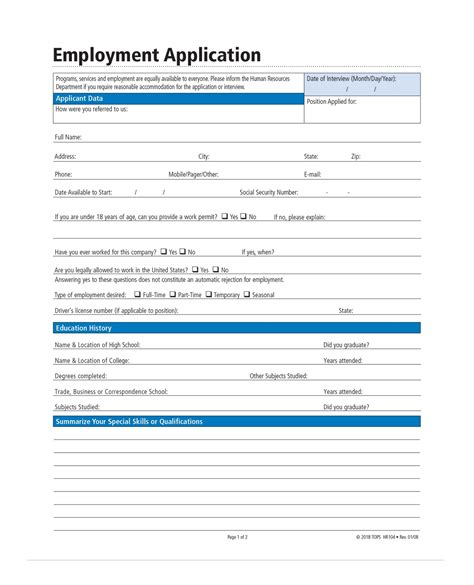 adams application for employment forms and instructions
