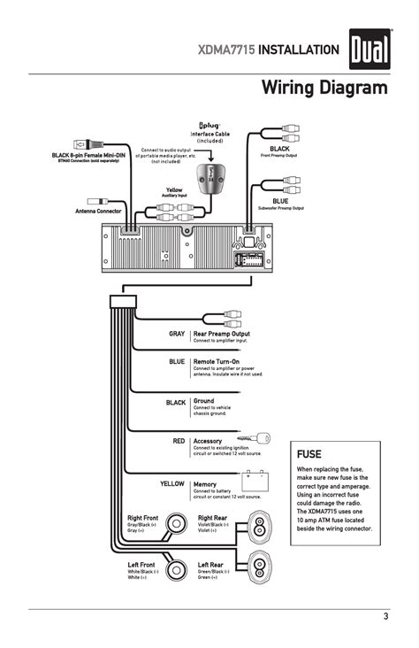 wiring diagram xdma7715 installation fuse dual iplug xdma7715 user manual page 3 24