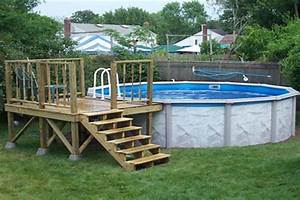 how to build a small above ground pool deck – woodguides