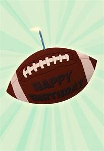 Congratulations Baby Shower Football And A Candle Birthday Card Greetings Island