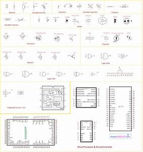 Electronic Components And Circuit Diagram Symbols