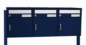 3er Briefkasten Freistehend : 3er briefkastenanlage saturn freistehend montierbar blau ch norm ~ Frokenaadalensverden.com Haus und Dekorationen