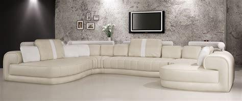 Divani Casa 6129 Modern Cream And White Bonded Leather